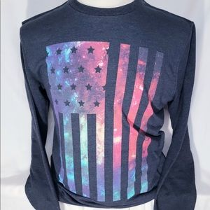 On The Byas: American Flag sweatshirt